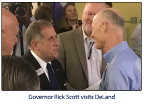 Governor Rick Scott Visits DeLand