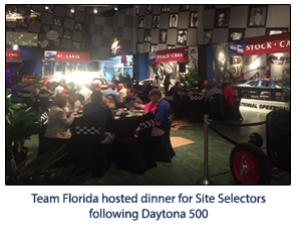 Site Selectors, Consultants, Prospects Hosted at Daytona 500